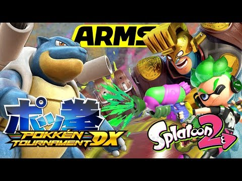 Pokken Blastoise + ARMS Party Crash + Splatoon 2 Triple Feature!