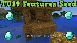 Minecraft Xbox 360 TU19 Seed: Witches Hut + Nether Chests Diamonds