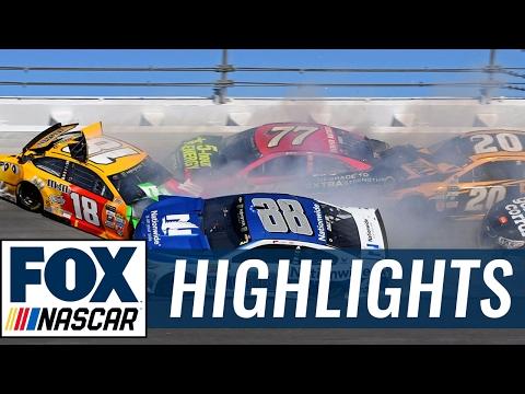 Kyle Busch and Dale Earnhardt Jr. wreck at Daytona | 2017 DAYTONA 500 | FOX NASCAR