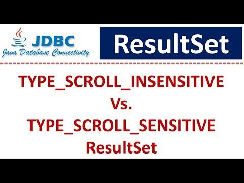 TYPE_SCROLL_INSENSITIVE Vs. TYPE_SCROLL_SENSITIVE ResultSet | JDBC