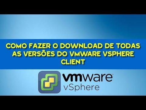🔴 Como Fazer Download De Todas as Versões do Vmware Vsphere Client