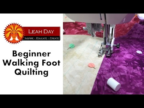 Beginner Machine Quilting with a Walking Foot - Easy Quilting Tutorial with Leah Day