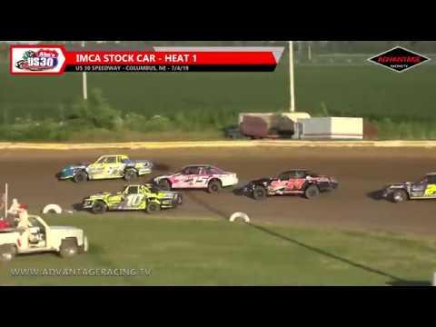 Sport Modified/Stock Car Heats - US 30 Speedway - 7/4/19
