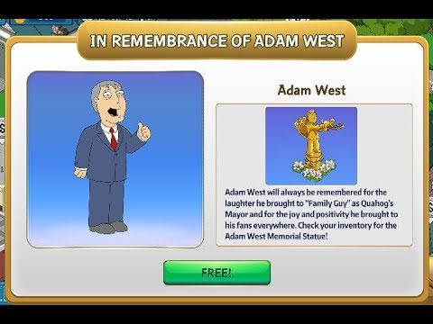 Family Guy TQFS in memory of Adam West