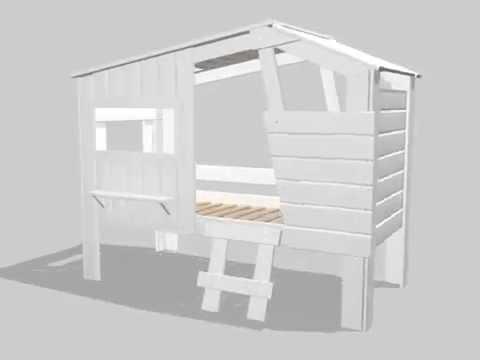Kinderbett baumhaus selber bauen  Dannenfelser Kindermöbel GmbH | Hüttenbett Spielbett STRANDHAUS ...