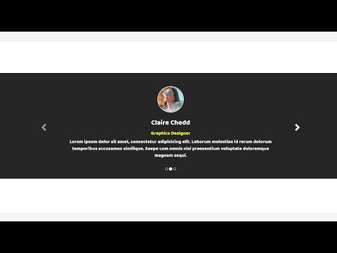 Testimonial slider with bootstrap carousel | Simple Bootstrap Testimonial Carousel