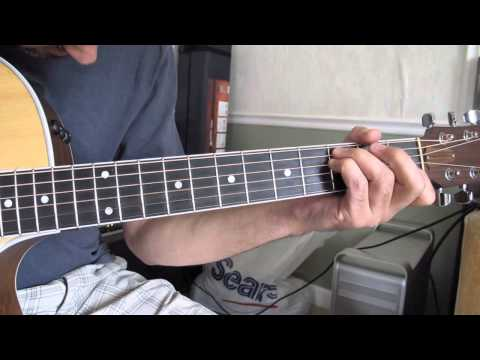 Ao olhar pra cruz- acoustic guitar  tutorial  C major