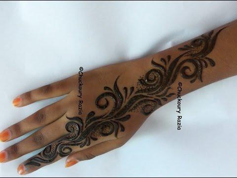 Simple Henna Designs Gulf Style Youtube