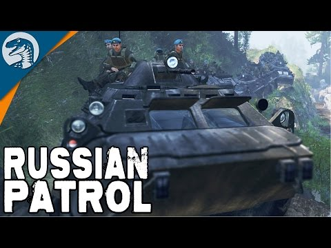 RUSSIAN TROOPS ON PATROL | BTR-80 | Spintires Multiplayer Gameplay