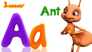 Phonics Songs | A is for Apple | Learn Alphabet Sounds | Infobells
