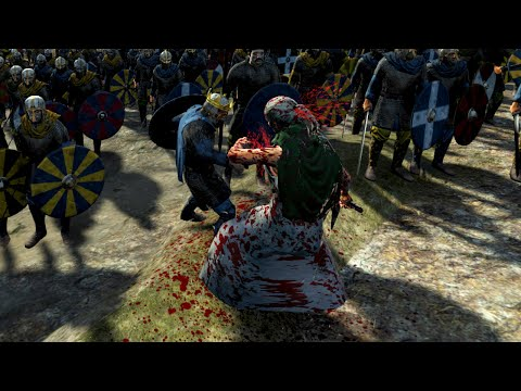 Civilians try to assassinate King while giving Battle Speech! - Total War Attila (Very Funny :P)