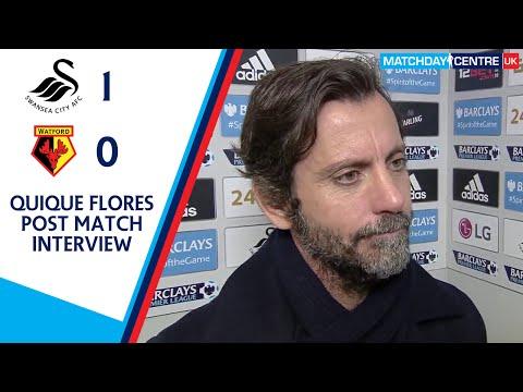 Swansea City 1-0 Watford : Quique Flores Interview