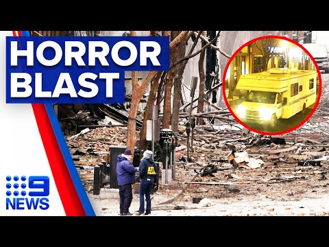Van explosion in Nashville believed to be intentional | 9 News Australia thumbnail
