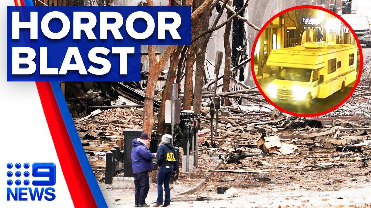 Van explosion in Nashville believed to be intentional | 9 News Australia – 9 News Australia