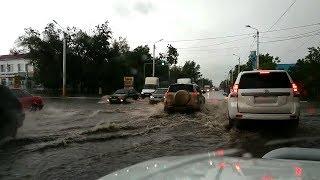 Ливень в Костанае 8 июня 2017 | Дороги превратились в реки!