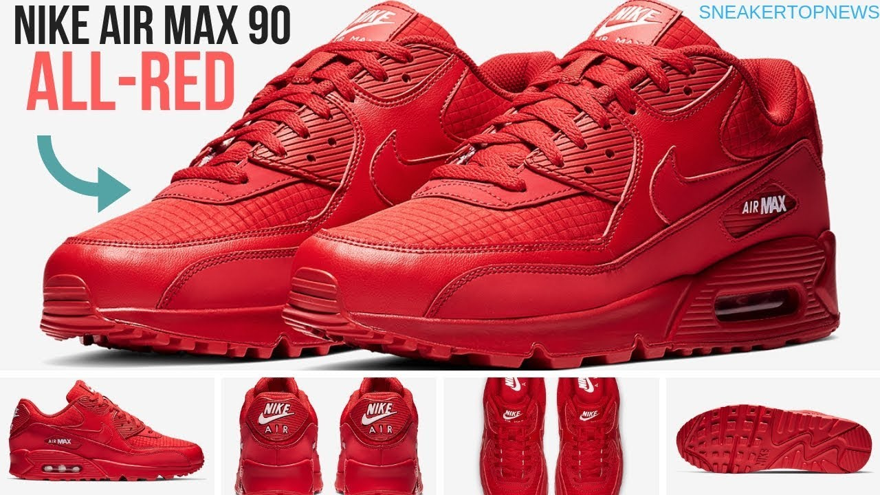 9cb3d593644b5 Another Nike Air Max 90 Is Coming In All Red - YouTube