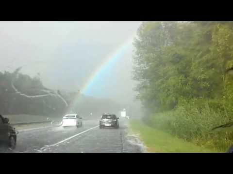 Rainbow- end to end- right before our eyes!