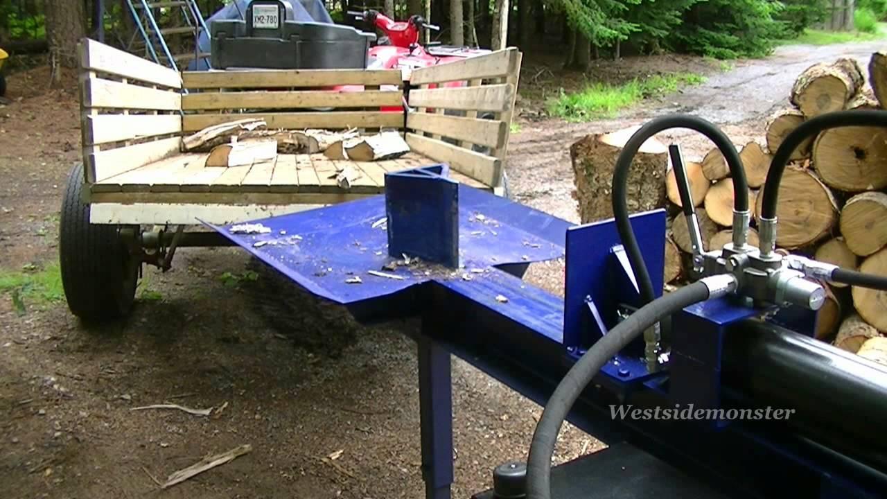 Wood Splitter With Lift : Homemade log splitter youtube