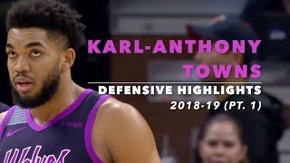 Karl-Anthony Towns Defensive Highlights | 2018-19 Season | MN Timberwolves
