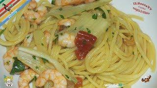 318 - Spaghetti gamberi e finocchi...un primino con i fiocchi :) (primo piatto semplice e veloce)
