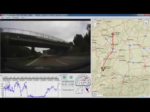 Freiburg - Frankfurt (legal 200kmh & Traffic in Germany) Autobahn A5