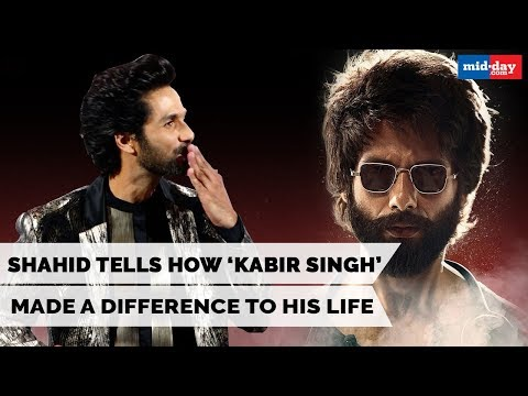 Shahid Kapoor Tells How Kabir Singh Has Made A Difference to His Life