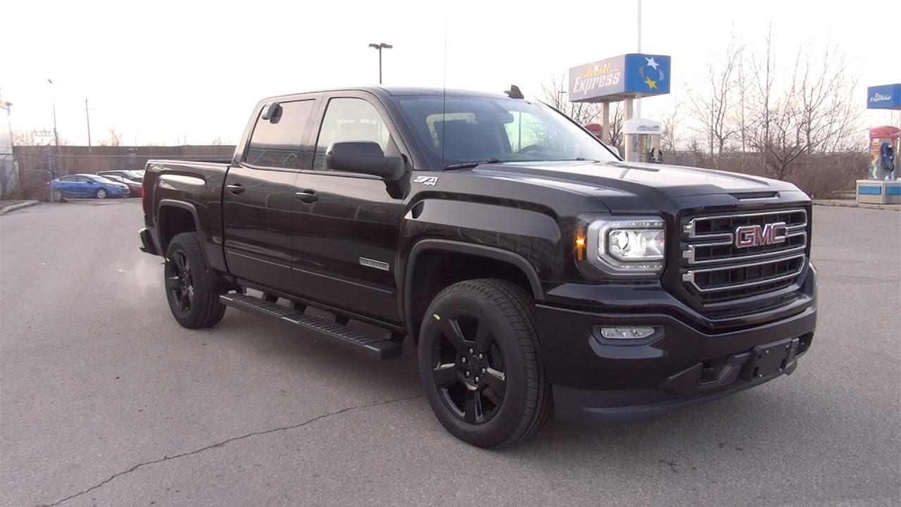 2017 Gmc Sierra 1500 Sle Crew Cab Elevation Edition Onyx Black