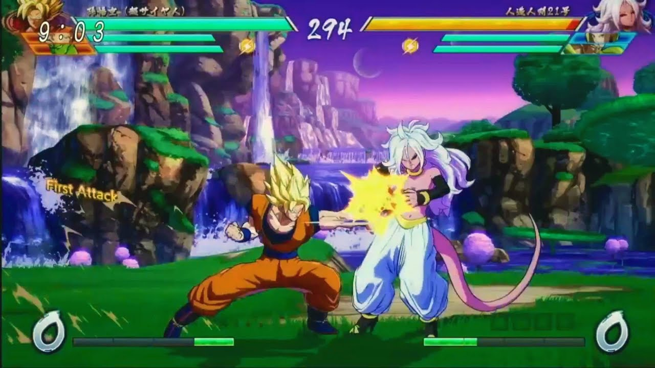 dragon ball fighterz majin android 21 gameplay