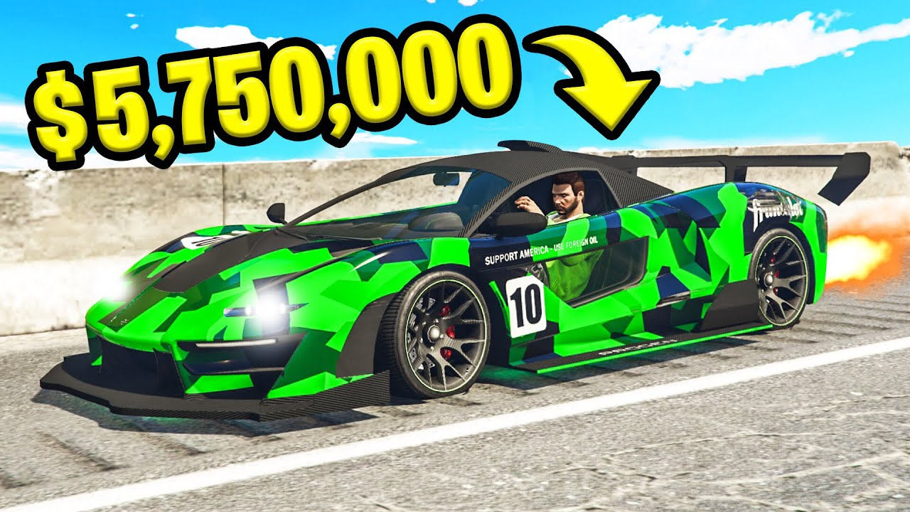 *NEW* $5,750,000 MCLAREN SUPERCAR In GTA 5! (DLC) thumbnail