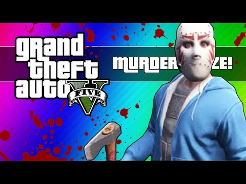 Thumbnail: GTA 5 Online: Murder Maze - First Person Edition! (GTA 5 Next Gen Funny Moments)