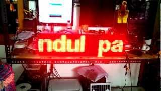 64x16 led matrix with gundul pacul controller