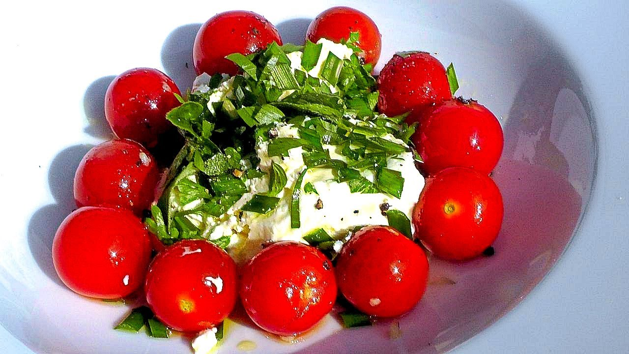 Sommer Küche Rezept : Warmer tomatensalat rezept vegetarische sommerküche der bio