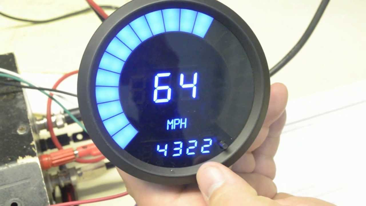 Electronic Speedometer Gauges : Led digital speedometer tachometer combo youtube