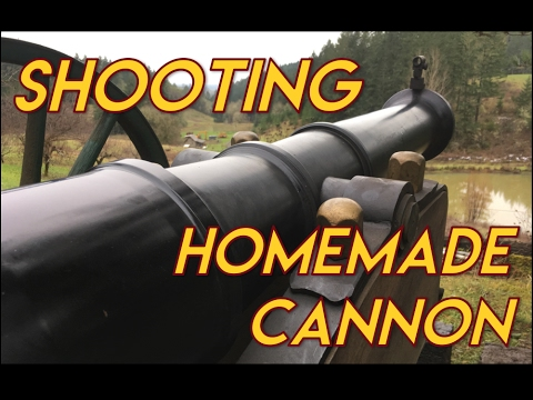 Homemade Cannon Shooting