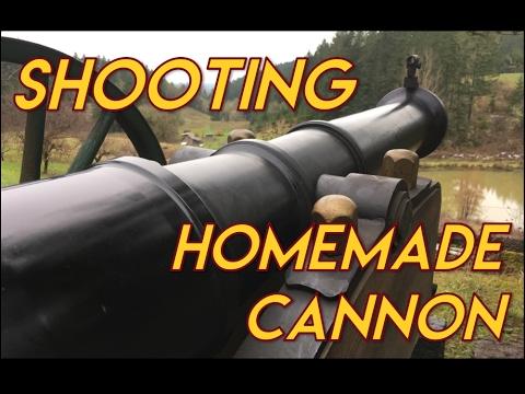 Homemade Cannon Shooting