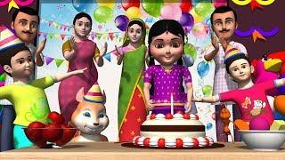 Happy Birthday Song in Telugu   Telugu Rhymes for children Baby Songs