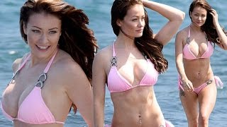 Ex On The Beach's Jess Impiazzi shows off toned abs dons a little pink bikini in Samoa