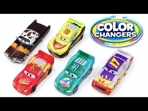 5 Color Changers Cars 2 Darrel Cartrip Tex Dinoco Lightning McQueen Rusteze Water Toys