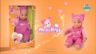 Játékbaba hanggal MiniKiss Smoby sapkában 27 cm 12