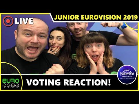 JUNIOR EUROVISION 2019: VOTING - LIVE REACTION (VIKI GABOR - JUNIOR EUROVISION WINNER FOR POLAND)