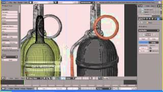 Видео урок по созданию гранаты в прграмме  Blender часть1