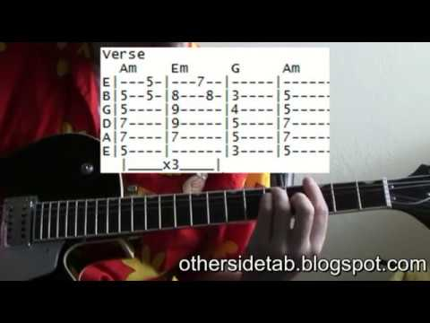 Red hot chili peppers Otherside tab chords guitar lessons online ...