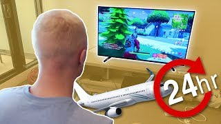 FLYING 24 HOURS TO PLAY FORTNITE BATTLE ROYALE