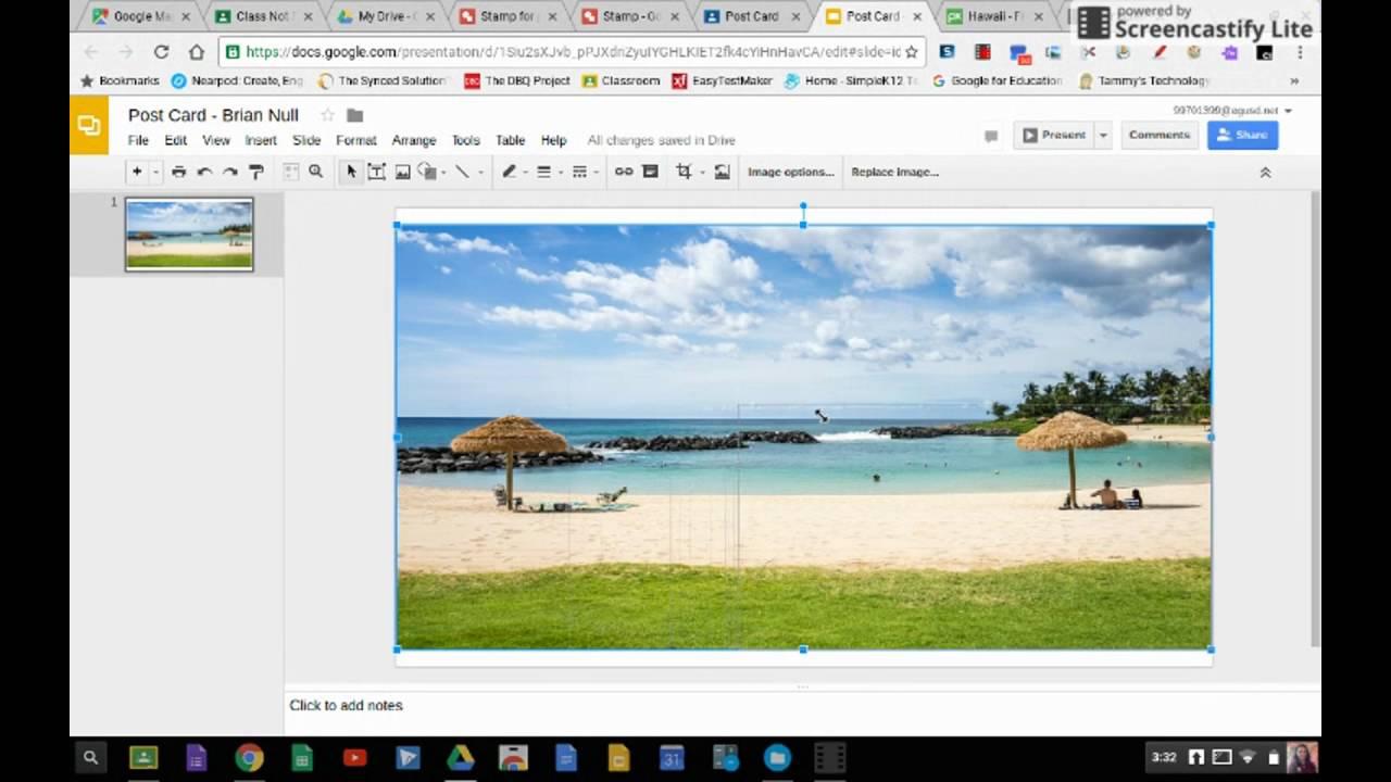 Post Card Ignment Using Google