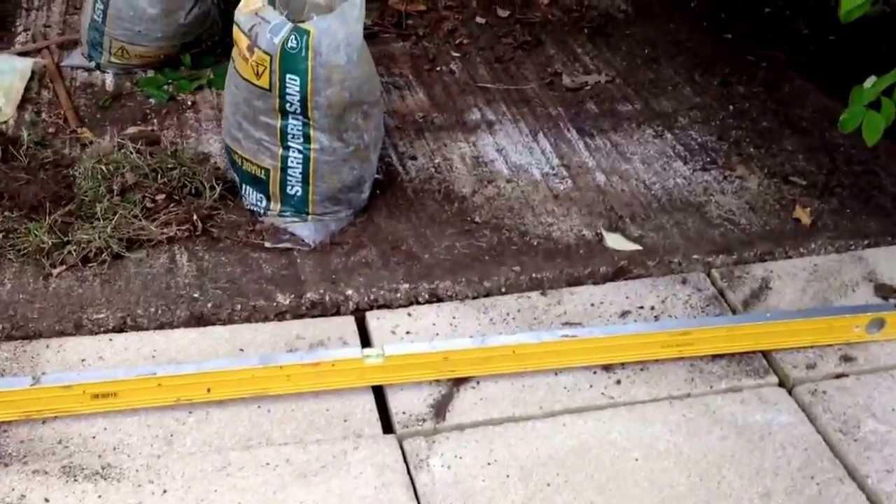 diy paving slabs for garden shed - youtube