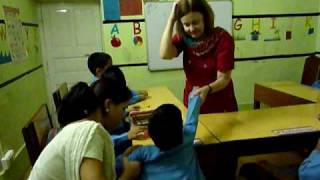 Lynne Sings Translated English Songs in India With Special Needs Class #1