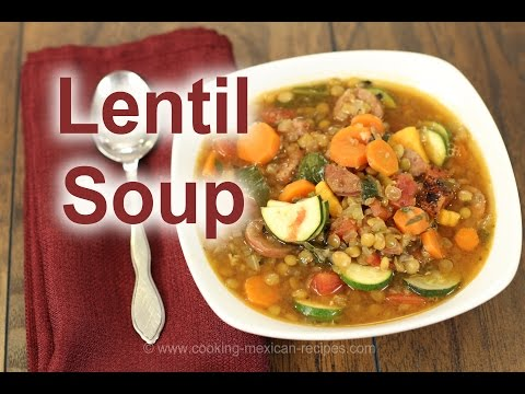 Homemade Sausage Lentil Soup Recipe