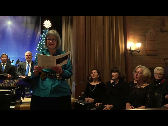 Christmas Vespers 2019 Julie Carlson reads Rev. Sally Adams poem, We Are Bethlehem Bound