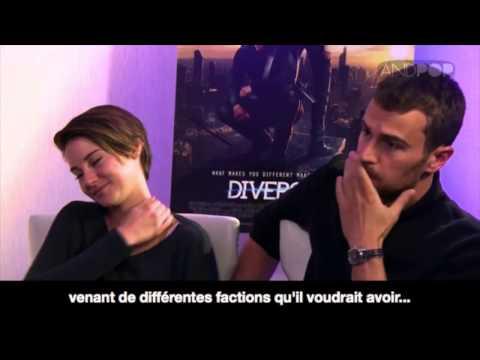 Theo James et Shailene Woodley parlent de leur baiser dans divergent - VOSTFR