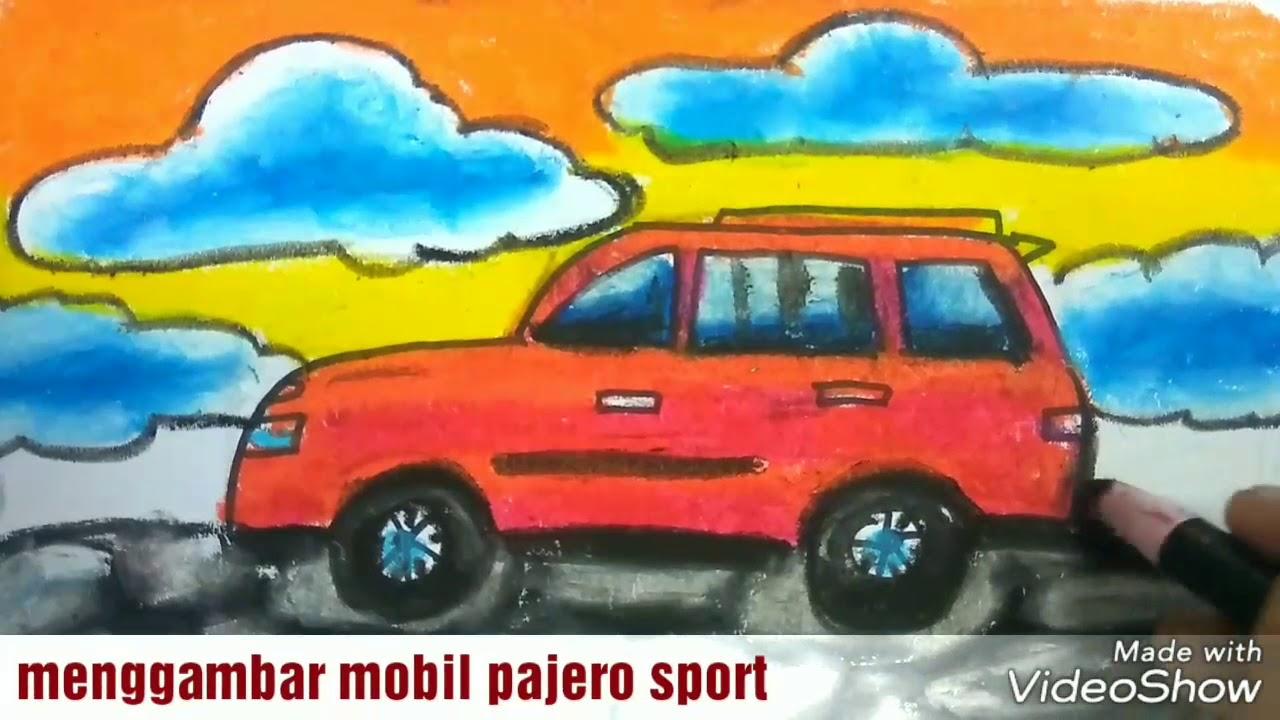 Cara Menggambar Dan Mewarnai Mobil Pajero Sport Dengan Temaomba